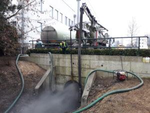 Czyszczenie kanalizacji o dużych średnicach